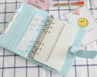 Pastel Planner Cover | Organizer Agenda | Macaron Planner Binder | Creamy Color Planner Case | Bullet Journal Planner | Mint Pastel Diary