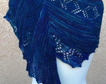 Hand Knit Lace Shawl