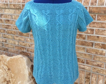 Ladies short sleeved sweater