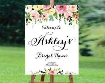 Bridal Shower sign, Bridal Shower Welcome Sign, Bridal Shower decoration, PRINTABLE Welcome sign, Bridal shower welcome sign - US_BS1203