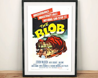 The Blob Classic Science Fiction Movie Film Poster