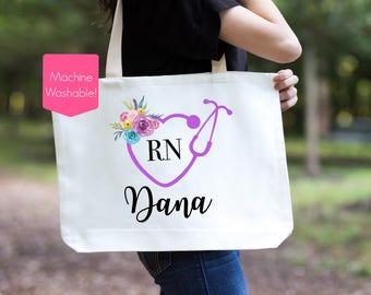 Nurse Tote Bag, RN Gift, Nurse Gift, Nursing School Gift, Nursing School Graduation Gift, LPN Gift, Nurse Bag, Gift For Nurse, Graduation