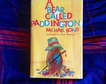 SOLD - FIRST American Edition, vintage book A Bear Called Paddington by Michael Bond, illustrated by Peggy Fortnum, the 1958 origal