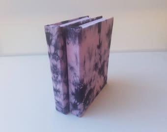 Tie-Dye hardcover Journal Black and Pink  320 pg, blank journal