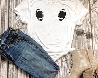 Women's Football Shirt, Football t-shirt, Football Tank, Game day Shirt, Football Decor, Decorations, Football girl,Football tee,Fall tshirt