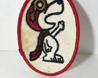 Snoopy as Flying Ace Patch - Embroidery