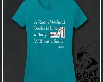 Literary Gifts, Teacher Gifts, Cicero, Poet Shirt, Librarian, Philosophy, Gift for Poet, Gifr for Her, Gift for Women, Tshirt, Shirt, Tee