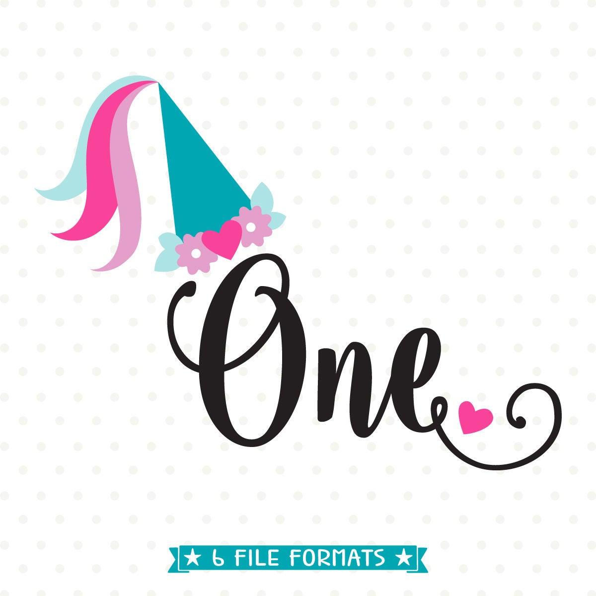 1st Birthday SVG Princess Birthday SVG File First Birthday