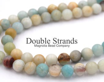 "TWO 15"" strands Amazonite Beads 10mm, TWO 15"" strands"