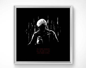 Blade Runner > Souvenirs 50x50 cm-Poster sheet HQ exclusive/exclusive poster High Quality Printing-Roy Batty Scifi Scott movie 80s