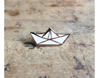 "Broche-pin's ""Voilier"" - Or"