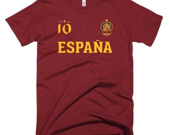 Official Novelty Spain Soccer jersey with number 10 - Short-Sleeve T-Shirt