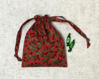printed red smallbags Holly - reusable bags - zero waste