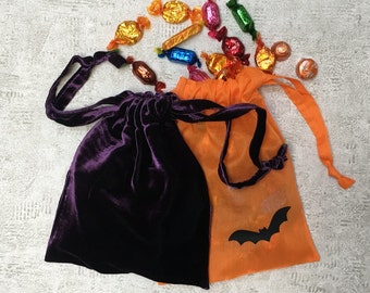 mixed duo smallbags halloween - velvet and veil - cotton & cotton bags