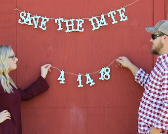 Save the Date Banner - Wedding Banner - Engagement - Date Banner - Sign