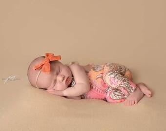 Newborn paisley romper / photography prop