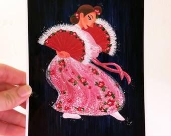 Korean Fan Dance Print