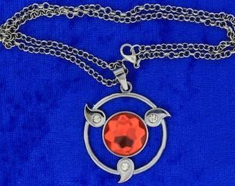 Naruto Sharingan Necklace or Keychain Anime Inspired