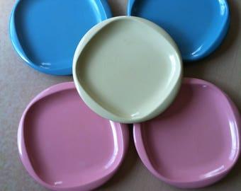 Boonton Melmac Lunch Plates Melmac Set of 5