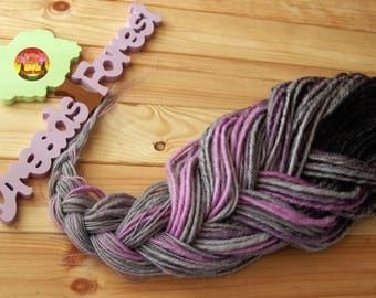 5 DE - 70 DE synthetic double ended dreads black light gray lavender purple halloween dreadlocks