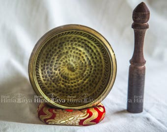 Tibetan Singing Bowl Beautifully Hand Crafted Useful for Meditation and Healing