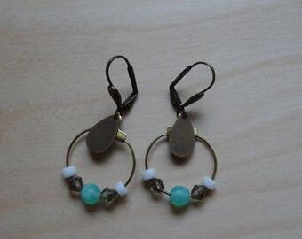 Hoop EARRINGS turquoise beads