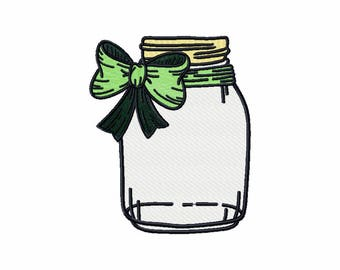 Machine Embroidery Design  - Canning Jars Design #04