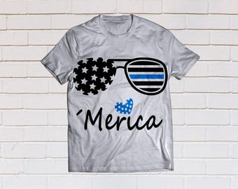 Back the blue svg, Thin blue line, Merica svg, Police svg, Police, SVG Files, Cricut, Cameo, Cut file, Files, Clipart, Svg, DXF, Png, Eps