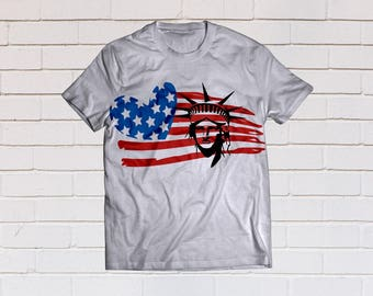 American flag svg, Merica svg, Usa flag svg, New york svg, Patriotic svg, SVG Files, Cricut, Cameo, Cut file, Clipart, Svg, DXF, Png, Eps