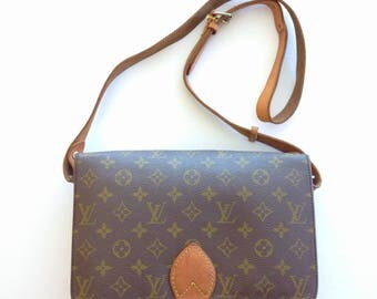 Best Deal!!! Authentic Vintage 80's Louis Vuitton Cartouchiere GM Classic Monogram Crossbody Shoulder Bag