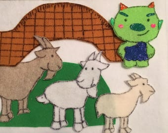 Three Billy Goats Gruff Felt Board Story
