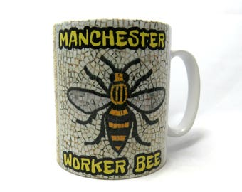 Manchester Worker Bee Mug, Manchester Bee Gifts.