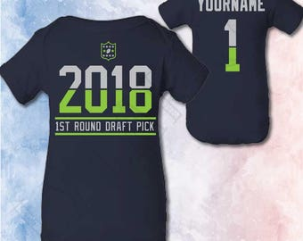 Seattle Seahawks Baby Outfit Personalized Christmas Gifts Newborn Seattle Seahawks Shirt One Piece Announcement Baby Shower Football Infant
