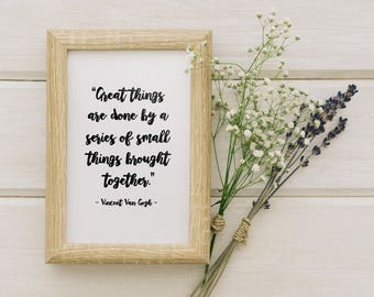 Great Things || Printable Wall Art, Printable Quote, Downloadable Print