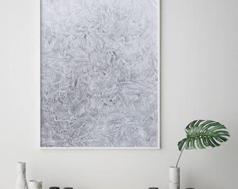 Snow print, Ice Print, Scandinavian, Nordic Print, Frost Print, Icy Frost, Snow Wall Art, Minimalist Print, Texture Print, Abstract print