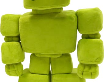 Love-able Green Irish soft toy robots! adopt your bot from teddybots.