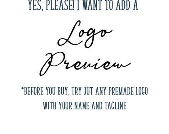 Premade Logo Preview - Try Before You Buy Logo Design - Premade Logo Design - Logo Design - Logo Sample - Logo Example