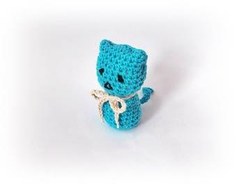 Cat lovers, Crochet amigurumi cat, Mini crochet plush cat, Stuffed Animal, Cat Toy, Crochet small cat, crochet animal