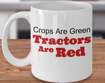 Tractor Mug, Tractor Coffee Mug, Tractor Gift, Gift for Farmer, Gift for the Farm, Love Tractors, Farm Kitchen Decor, Red Farm Tractor