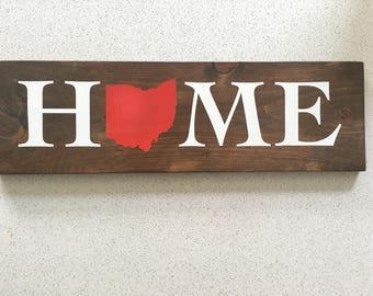 Ohio Wall Art ohio wall decor ohio sign rustic home decor reclaimed wood