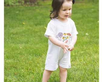 Wildflower Child Romper - by Moon Moppets