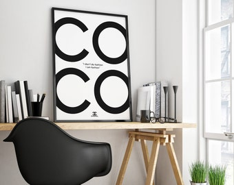 Chanel, Chanel Poster, Chanel Print, Coco Chanel Print, Chanel Wall Decor, Fashion Poster, Chanel Art, Coco Chanel Quote, Chanel Wall Decor