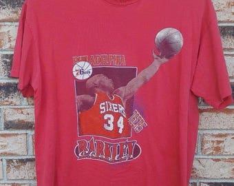 Vintage 90s Starter Philadelphia 76ers Charles Barkley T-Shirt Size XL