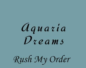 Rush Order Upgrade / Fast Processing Order / Ships Next Day Order Upgrade / AquariaDreams Rush Order