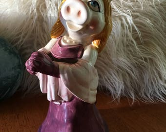 Jim Hensen The Muppets MISS PIGGY Vintage Large Ceramic Figurine