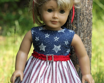 Stars & Stripes...  Fits American Girl Doll and other 18 inch dolls