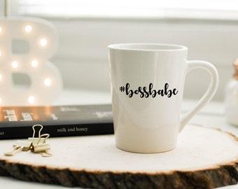 Hashtag Bossbabe Mug//Coffee Mug//Tea Mug//Gift