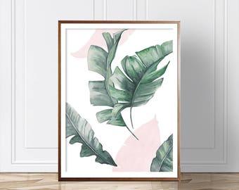 Palm Leaf Print, Palm leaves, Wall Art, Modern Decor, Modern Wall Art, Leaves Print, Fashion Poster, Modern Art, Art, Digital Prints, Prints