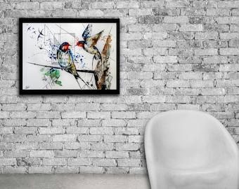 Swallow watercolor print, Swallow art, Swallow print, Watercolor bird, Watercolor swallow, Bird print, Bird nursery decor, Bird art print