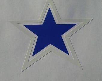 Star with White Border Vinyl Decal #1-044